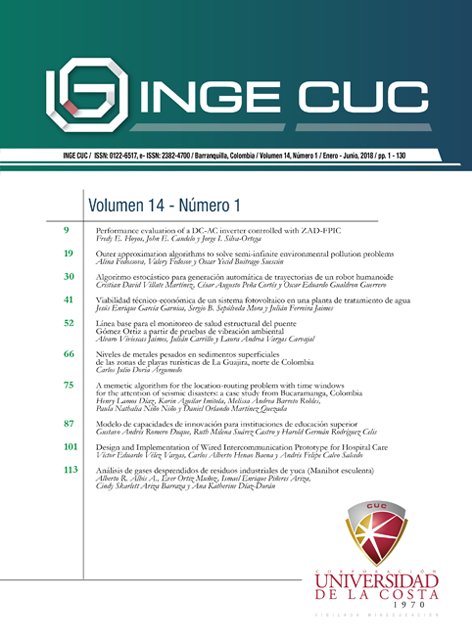 INGE CUC Vol. 14 no. 1
